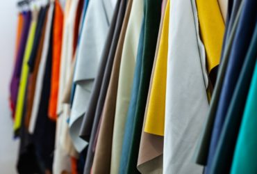 Different types and colors of leathers ready for the manufacture of products